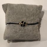Armband Kleeblatt Gold/Schwarz