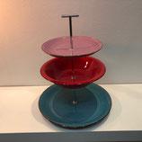 Etagere - Rosa/Rot/Blau