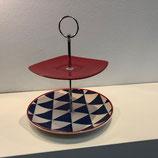 Etagere - Rot und Blau/Weiß Dreiecke
