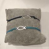 Armband Fisch - Silber