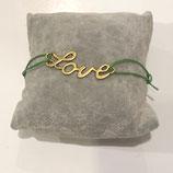 Armband Love - Gold Antik