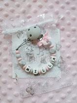 """Nuggikette / Schnullerkette """"Milla"""" marmor/rosa"""