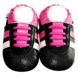 Leder Krabbelschuhe Trainer pink Gr. 21