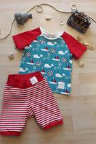 "Kindershirt Raglan ""Maritime""  und Kinderhose ""Stripes"" aus der BIO- Kollektion ""Maritime Summer"""