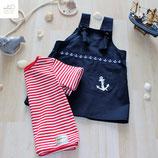 """Kinderkleid """"Anker"""" (handbedruckt) und Kindershirt """"Stripes"""" aus der BIO-Kollektion """"Maritime Summer"""" Gr.86"""
