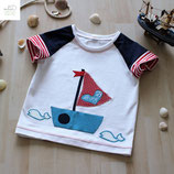 "Kindershirt ""Boot"" aus der BIO-Kollektion ""Maritime Summer"""