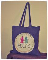 Sac coton gris perle logo ECLAS 40x40