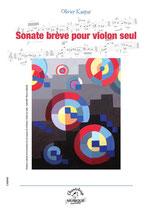 Sonate brève pour violon seul d'Olivier Kaspar
