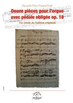 Boëly, Douze pièces pour orgue avec pédale obligée op.18