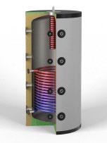Hygiene-Pufferspeicher  1250 Liter mit 1x Solarwärmetauscher