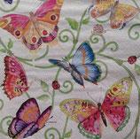 Butterflies on linen ペーパーナプキン