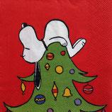 Snoopy on tree ペーパーナプキン