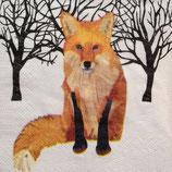 Fox in woods ペーパーナプキン