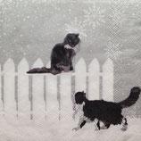 Snowfall cats ペーパーナプキン(小)