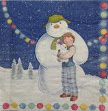 The snowman&the snowdog スノーマン ペーパーナプキン