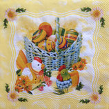 Eggs in basket ペーパーナプキン