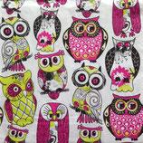 Owls pink ペーパーナプキン