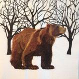 Bear in woods ペーパーナプキン