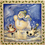 Snowman&Penguins ペーパーナプキン