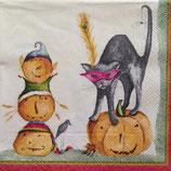 Pumpkins by Debbie Taylor Kerman ペーパーナプキン(小)