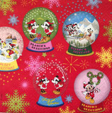 Mickey&Minnie Snow domes ペーパーナプキン Red