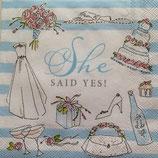 She said yes! ペーパーナプキン(小)