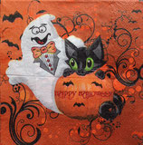 Halloween kitty ペーパーナプキン(小)