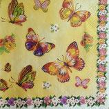 Butterflies in garden ペーパーナプキン