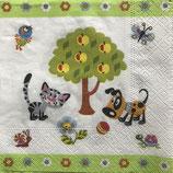 Cat &Dog ペーパーナプキン