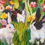 Rabbits In Art ペーパーナプキン