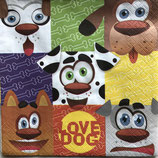 Love Dog ペーパーナプキン