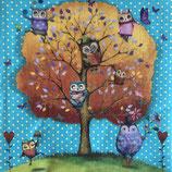 Owls Favorite Tree ペーパーナプキン