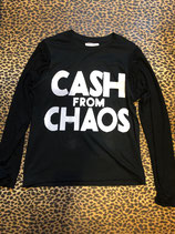 CASH FROM CHAOS BLK LONG SLEEVE T/S