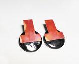 Orecchini con lastra in rame fiammato - collezione Materici