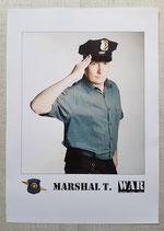 Marshal T. Vintage Autogrammkarte 2
