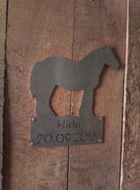 Stallschild Pferd
