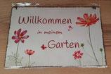 """Schild """"Willkommen in meinem Garten"""""""