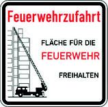 Feuerwehrzufahrt Fläche für die Feuerwehr freihalten 080.2
