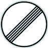 VZ 282 Ende sämtlicher Begrenzungen Geschwindigkeit und Überholverbote