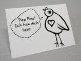 Postkarte, Piep Piep! Ich hab dich lieb!