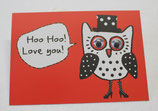 Postkarte, Hoo Hoo! Love You!