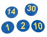 Números de caucho del 1 al 30
