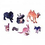 Set Animales Canguro, Oso Panda, Camello, Gorila, Mapache, Koala y Coyote.