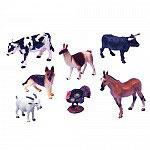 Set Animales Pastor Alemán, Caballo, Vaca, Toro, Cabra, Llama y Pavo.