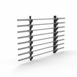 Estantería de pared para barras olímpicas