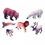 Set Animales León, Puma, Lobo, Oso Polar, Ciervo y Oso pardo.