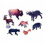 Set Animales Ardilla, Ciervo, Pantera, Cabra Montesa, Jabalí, Zorro, Búfalo y Buey.