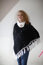 Poncho X schwarz/weiß