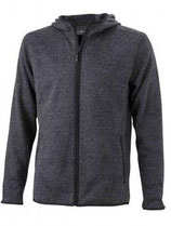 James & Nicholson | JN 589 | Herren Strick Fleece Kapuzen Jacke