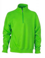 James & Nicholson | Workwear Half Zip Sweater | JN 831